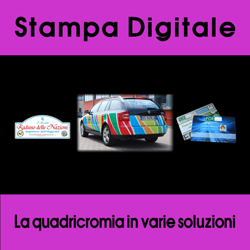 Stampa digitale in quadricromia